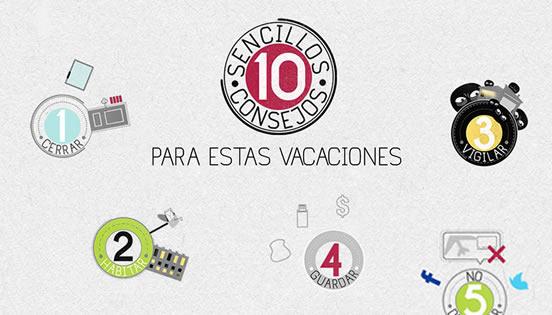 Diez consejos para prevenir robos en vacaciones